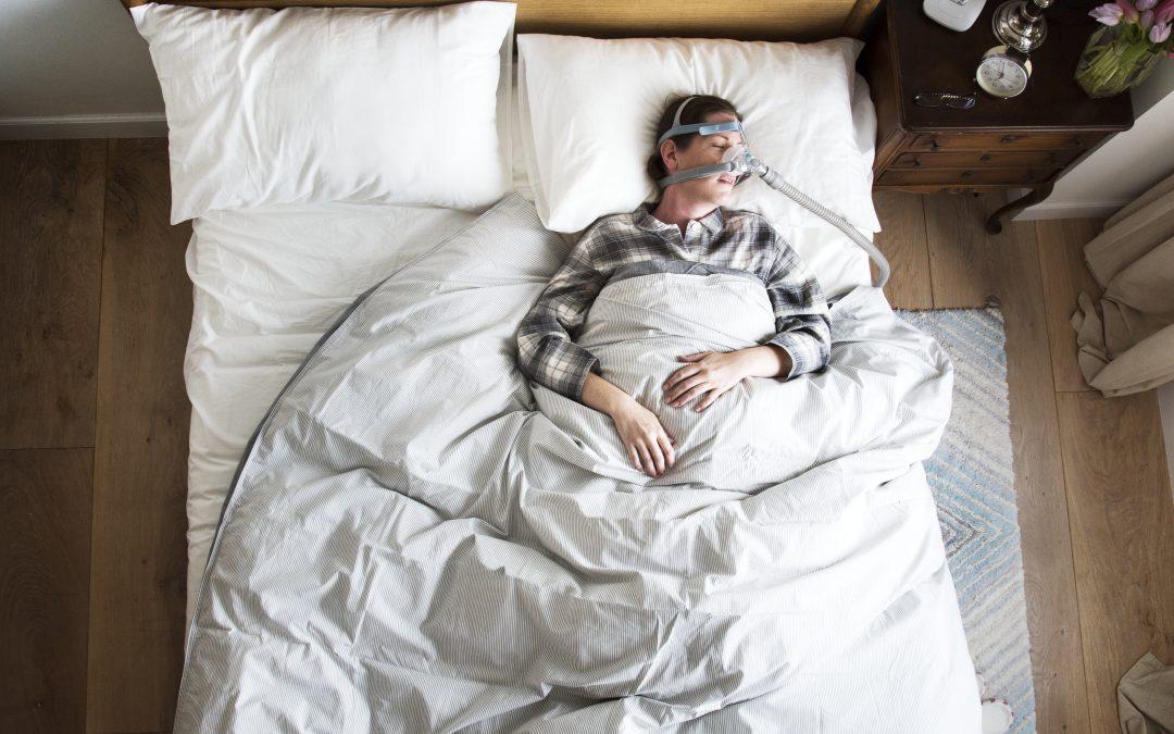 Sleep Apnea Patient with CPAP